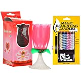 11 Candles Happy Birthday Lotus Candle And Magic Relighting Candles Full Cake Decoration Rose Candle