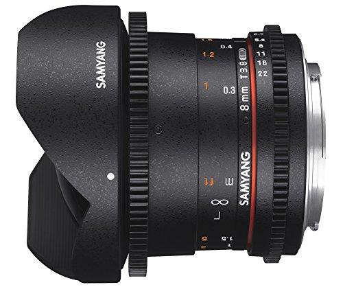 Samyang 8mm T3.8 VDSLR UMC Fish-Eye CS II SLR - Objetivo (SLR, 10/7, Objetivo de Ojo de pez, 0,3 m, Sony A, 8 mm)
