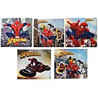 Myesha Toys Spiderman Zigsaw Puzzle, Pack of 5, Total 45 Pieces
