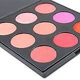 Miskos 9B 9colori trucco fard viso contorno fard polvere palette cosmetici, 31,5gram