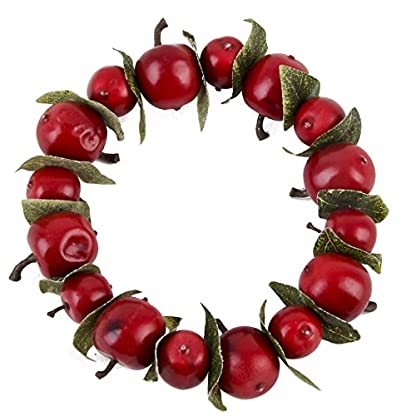 Kranz-Apfel-Design-Foam-Kunststoff-rot-Weihnachten-Deko