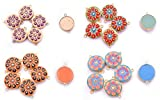#8: Appliques Round Shape Stone Beaded Sequins Dress Patch Sewing Crafts Applique 12 Piece By Handicraft-Palace