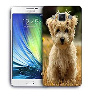 Snoogg Dog Watching The Flowers Printed Protective Phone Back Case Cover For Samsung Galaxy A7