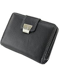 Damen Geldbörse Portemonnaie Geldbeutel Rindleder 5197