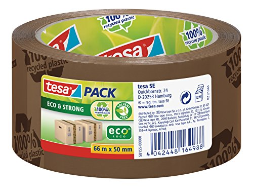 tesa-58155-recycled-eco-logo-printed-strong-packaging-tape-50mm-x-66m-brown