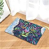 FHDE Willkommen Fußmatten Digitaldruck Cat Bad Küche Teppiche Fußmatte Katze Fußmatte für Wohnzimmer Anti-Slip Tapete Stil 12 50 x 80 cm