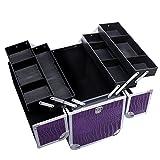 Songmics® Neu Alu Croco Beauty Case kosmetikkoffer Schminkkoffer 36,5 x 22 x 35 cm JBC229 -