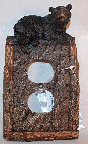 Schwarz Bär Blindabdeckung (Steckdosen-abdeckungen Rustikale)