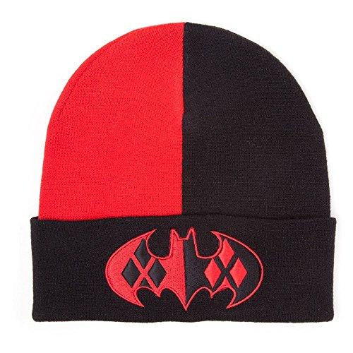 Batman Harley Quinn Mütze, schwarz/rot