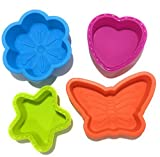 PEHER Silicon Cake Moulds, Set of 4, Mul...