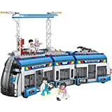 Munchkin Land COGO Building Blocks Bus Transport System DIY - 545 Pcs Building Block Sets Multi Colour