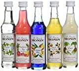 Monin Coffret Cocktail Passion/Coco/Fleur de Sureau/Mojito Mint/Pamplemousse Rose 5 x 5 cl