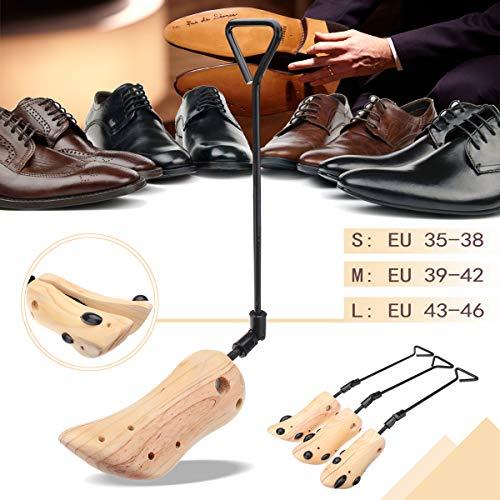 Kiefer Waschbecken (EgBert Verstellbare Schuhe Stretcher Männer Frauen Schuhe Stiefel Baum-Schatten-Kiefer Holz 3 Sizes Schuhe Zubehör - S)