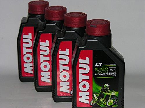 Motul 4litres d'huile Motul 510015W50 pour moto à moteur 4T,huile synthétique Technosynthese