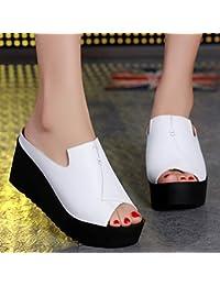 Qingchunhuangtang@ primo pantofole, con antiscivolo rugiada sandali-,36, bianco scarpe da spiaggia