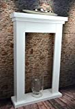 Livitat® Kaminkonsole Kaminumrandung Kaminumbau 110 x 70 cm Kaminatrrappe Weiß Landhaus LV4090