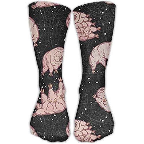 Daisylove Socken Tardigrades in Space Schwarz von Pinky Wittingslow Unisex Sport Over-Wadenstrümpfe, Einheitsgröße