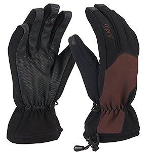 Aiduy Skihandschuhe, Winterhandschuhe Wasserdichte Winddichte Snowboard Handschuhe für Professionelles Skifahren, Outdoor Sport Ausflug Wandern Klettern Herren Damen