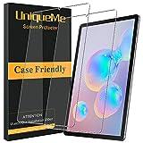 UniqueMe [2 Pack] Schutzfolie für Samsung Galaxy Tab S6 Panzerglas, Samsung Galaxy Tab S6 Folie, HD klar gehärtetes Glas Disp