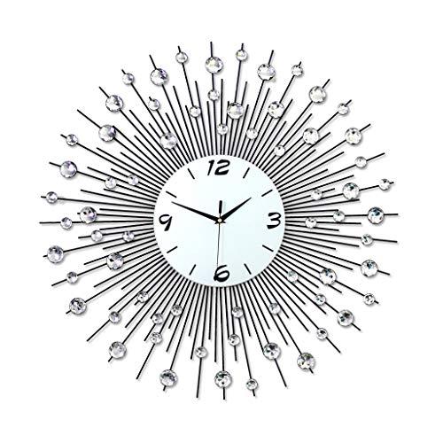 Cxf Wanduhr Iron Art Silent Living Room Einfache Und Stilvolle Schlafzimmer Große 3D Quarzuhr Dekorative Uhr (größe : 60X60)