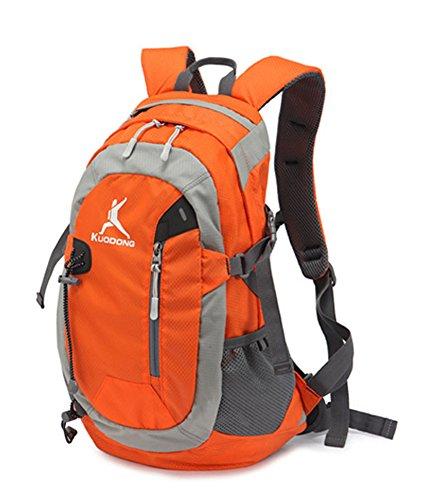 Outdoor peak Unisex Nylon wasserabweisend Ultrasport Wanderrucksack Radfahrrad Trekkingrucksack Reisetasche Laptop-Tasche Schultasche Bergsteigen Arbeitestasche . Orange