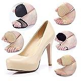 SODIAL(R) 1 Paar Eindickung Super Weiches Bequemes Vorfuss-Pad Unsichtbare Hohe Schuhe mit Absatz Auflage Kissen Rutschhemmende Halb Yard Auflage - Art und Farbe Zufaellige