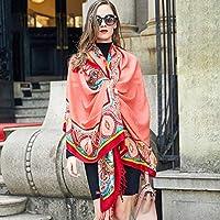Ztweijin Frauen Wintermode Boho Stil Plaid Dicke warme Poncho Pullover Schals und Stolen übergroßen Blanket Wrap
