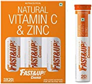 Fast&Up Immunity Booster Combo - Fast&Up Charge, Effervescent Vitamin C & Zinc - Pack of 3 + 1 Tub