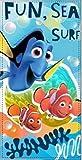 Disney Nemo - Duschtuch/ Badetuch/ Strandtuch 100 % Baumwolle - 70 x 140 cm
