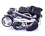 Foldalite Electric Wheelchair with Llithium ion Battery 23st User Weight