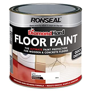 Ronseal DHFPWH25L 2.5L Diamond Hard Floor Paint - White