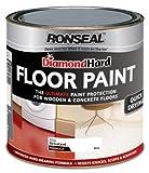 Ronseal DHFPWH25L - Diamond Hard, Vernice protettiva per pavimenti in legno/calcestruzzo, 2,5 l, colore: Bianco