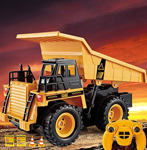 Ferngesteuerte Autos RC Toy 6CH Fernbedienung Big Dump Truck Geladen Sand Fahrzeug Spielzeug 1/18 Skala Spielzeug App Ferngesteuerte Motorräder Autofernbedienungen 0325*007