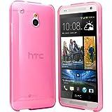 HTC One Mini Hülle Case Schutzhülle Silikon Cover für HTC One Mini M4 (Pink)
