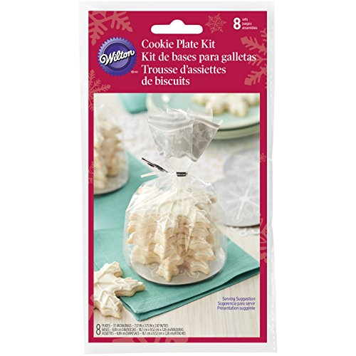 Wilton Snowflake Cookie Teller-Set, Mehrfarbig, 21 x 9.53 x 17.78 cm (Cookie Pappteller)