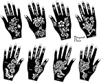 Aktion ! Henna Tattoo Schablone Vorlage 8 Sheet Fleur 8