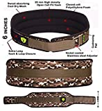 #1: Xtrim Dura Belt -MEN GYM FITNESS WEIGHT LIFTING BELT Foam Padded Leather Contoured Weightlifting Belt with Moisture wicking Lining and Steel Roller Adjuster- WIDE 6 INCHES WIDTH - SATISFACTION GUARANTEED !