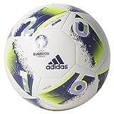 adidas Euro16 Glider - Balón de fútbol, color blanco, talla 5