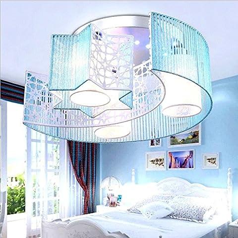 midtawer Il LedLuce da soffitto rosa caldo spazzolato romantica vellum elegante camera da letto 7 Salotto lampade Multimedia