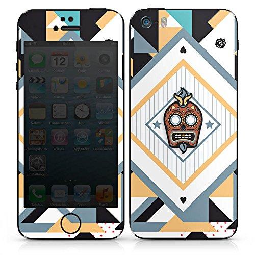 Apple iPhone 4 Case Skin Sticker aus Vinyl-Folie Aufkleber Skull Abstrakt Mexiko DesignSkins® glänzend