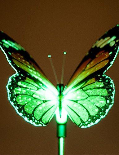 GXS/ 2pcs changeant de couleur lampe de jardin à énergie solaire a conduit à la conception papillon