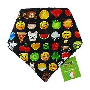 Dimples Bandana pour Chien - Emoji Smiley (Fait à la Main pour Toutes Les Tailles et Races)