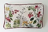 Sander Kissen Dekokissen Gobelin Blumen Blütenmotive 32x 48 cm mit Federfüllung und Reißverschluss (Melville)