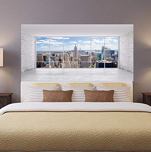 Jushuyin New York Manhattan Stadt Landschaft Kopfteil Wandaufkleber Wandbild Pvc Wasserdichte Wandtattoos Home Bedroom Bedside Dekorative