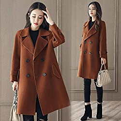 MO Autumn and Winter Coat of Women in the Long One Temperament Fashion Woolen Coat Slim Was Thin Tide from MO