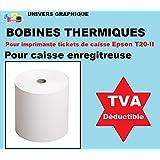 10 ex bobine thermique 80 x 80 x 12 pour tickets de caisse pour imprimante thermique marque univers graphique ref UGRr808012