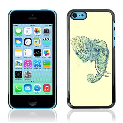 Graphic4You Niedlich Baby Elefant Tier Design Harte Hülle Case Tasche Schutzhülle für Apple iPhone 5C Design #1