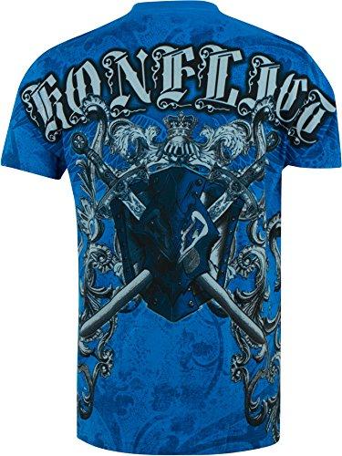 Sakkas Königs Ruhm metallischen geprägte Männer-Mode-T-Shirt Türkis