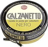 Calzanetto, Lucido per calzature in Scatoletta, in pasta dura, con cere pregiate, in salute e bellezza, colore Nero, 50 ml