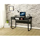 Simple Style Computer PC Home Office Laptop Desk Study Table Workstation - Black 110 x 55 x 75 cm by EBS